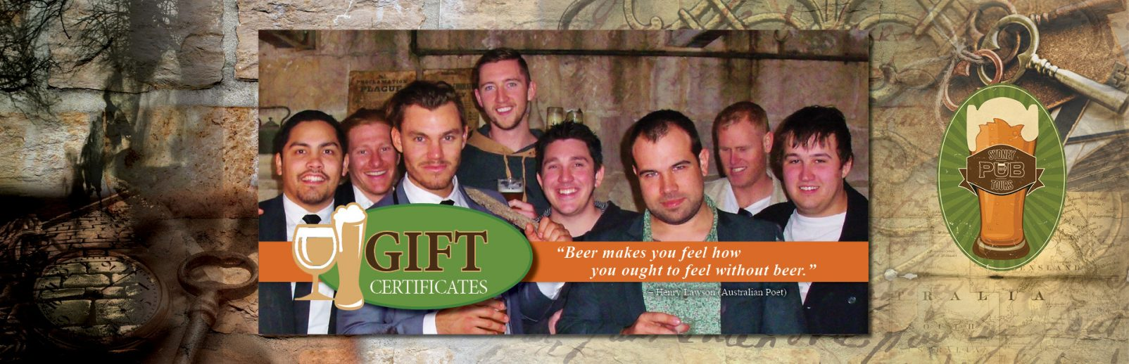 Reward someone for getting another year older, by shouting them a Sydney Pub Tour Gift certificate.